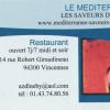 Restaurant La Méditerranée – Les saveurs de Djerba – Vincennes – Un accueil très sympathique !